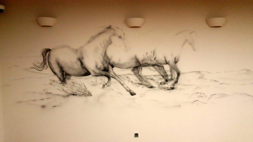Konie w galopie, malowanie obrazów