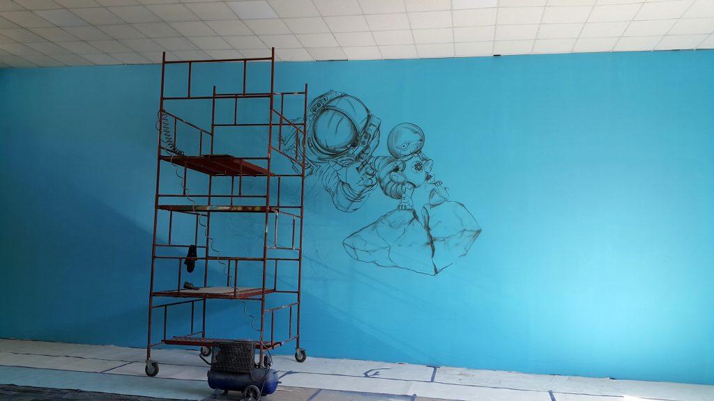 Malowanie sali zabaw, mural 3D w bawialni