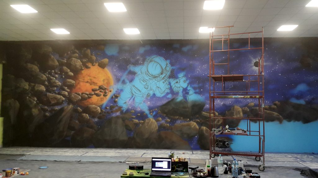 Malowanie bawialni, graffiti 3D