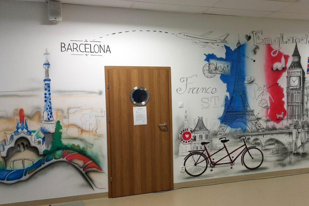 Malowanie klasy szkolnej, Metamorfoza sali językowej, malowanie klasy językowej