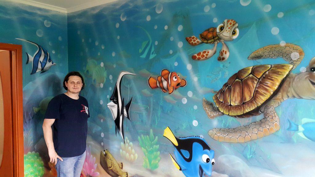 Malowanie pokoju dziecięcego, graffiti artystyczne w pokoju dziecięcym