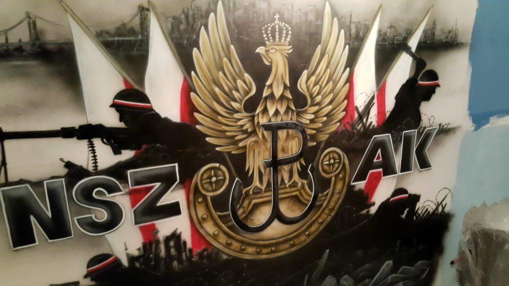Mural patriotyczny, Polska walcząca graffiti