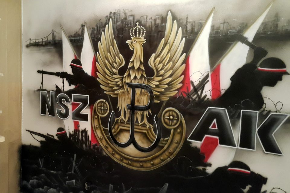 Mural patriotyczny, graffiti o powstaniu Warszawskim