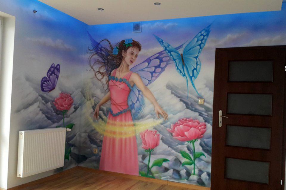 MAlowanie w pokoju dziewczynki, graffiti w pokoju nastolatki