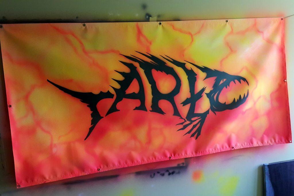 Malowanie loga dla zespołu, malowanie logotypów i reklam