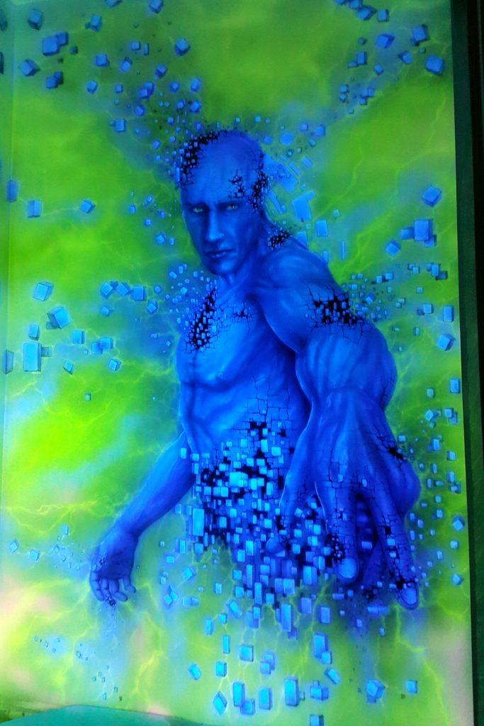 Obraz świecący w ciemności, mural UV namalowany w ultrafiolecie
