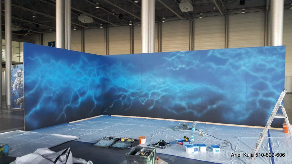 pyrkon 2019 mural, malowanie grafiki z gry Re-Legion