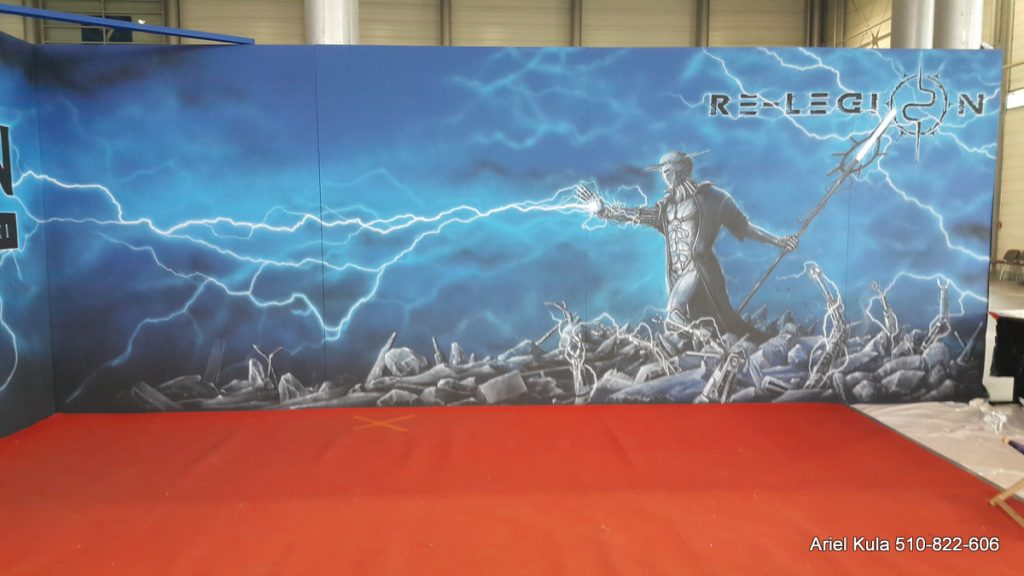 Pyrkon 2019 mural z gry Re-Legion