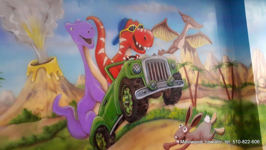 Malowanie sali zabaw dla dzieci, artystyczne malowanie ścian 3D
