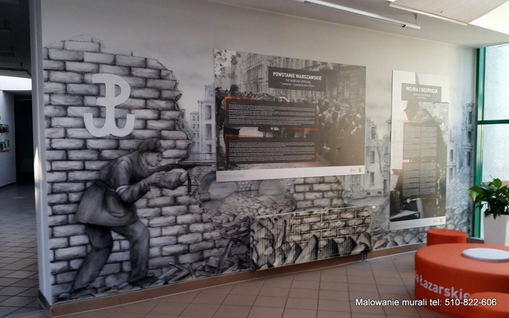 Mural w Szkole Wyższej
