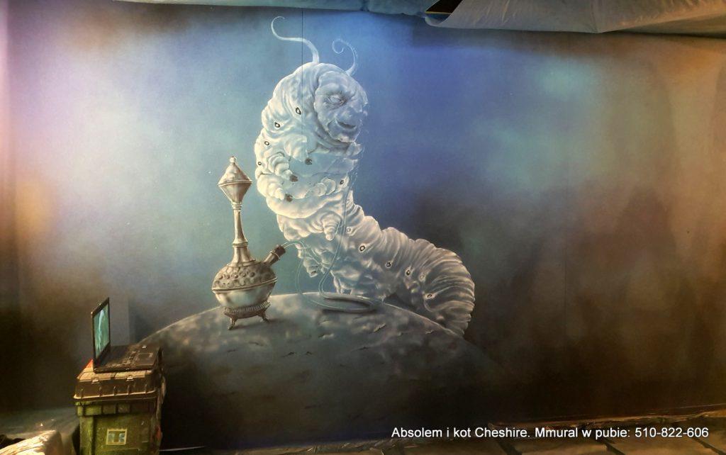Mural w pubie, malowanie ściany w barze