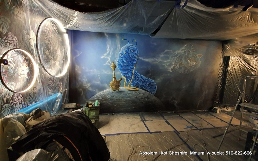 Mural w Pubie, malowanie Absolema