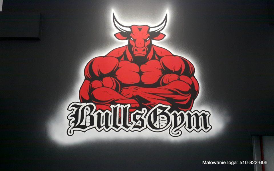 Malowanie loga w siłowni, graffiti w siłowni