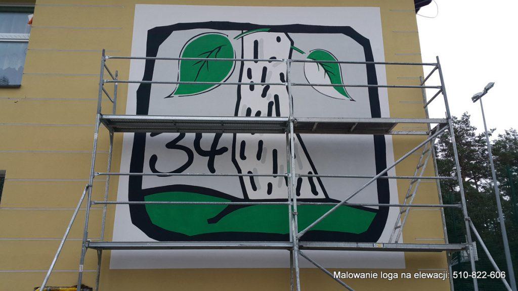 Malowanie loga szkoły, logo na szkole