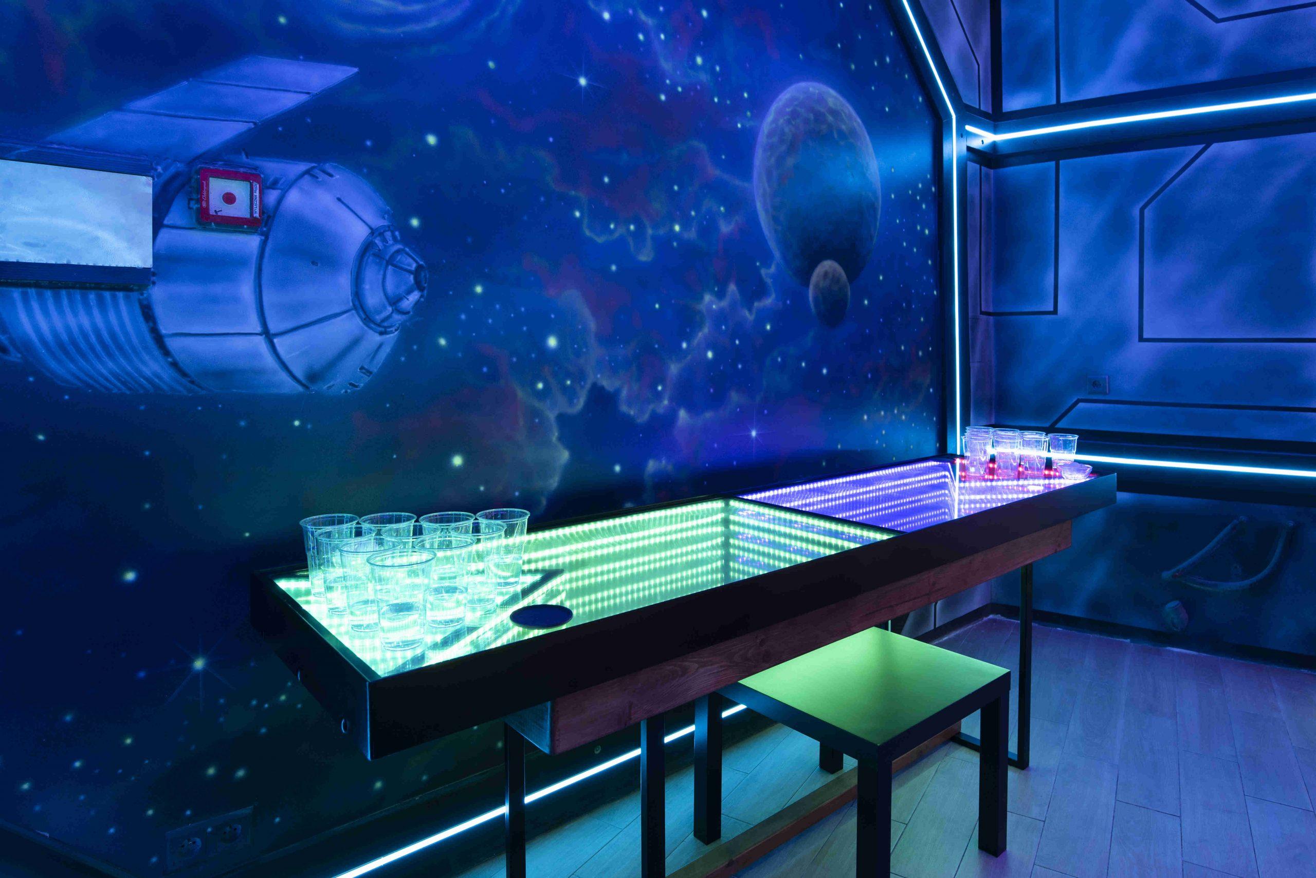 Arnżacja scian w barze, malowanie w pubie, mural w barze