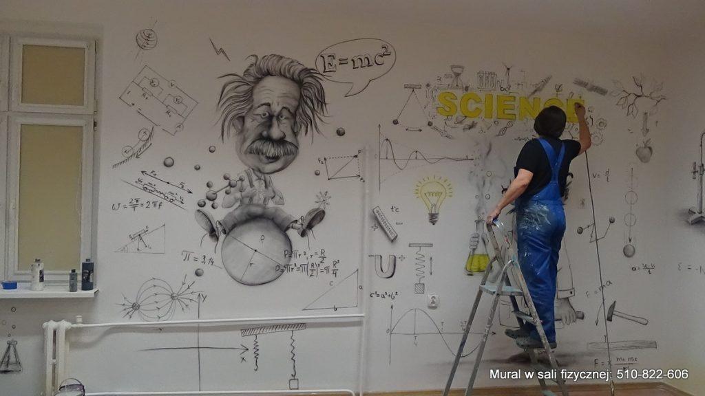 Malowanie sali fizycznej, aranżacja pracowni fizycznej